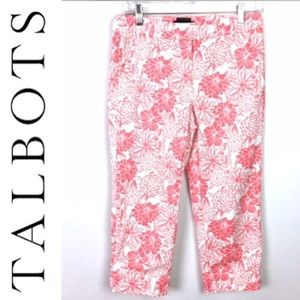 Talbots floral capri the perfect skimmer size 4P